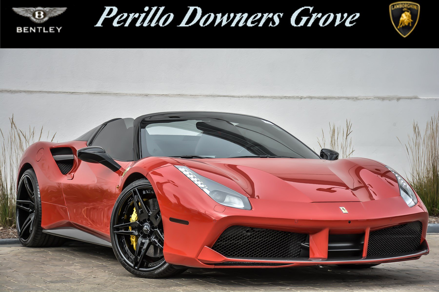 pre-owned 2017 ferrari 488 spider convertible in downers grove