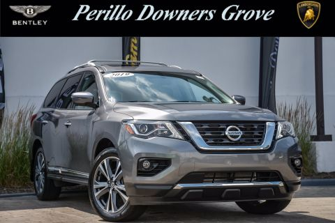 Pre-Owned 2019 Nissan Pathfinder Platinum, 3rd Row, Rear Ent.