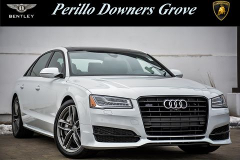 Pre-Owned 2017 Audi A8 L w/Black Optic Package & Navigation